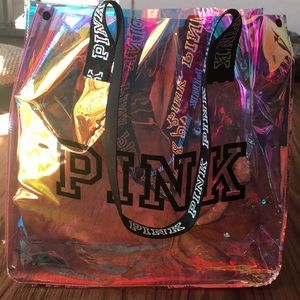 New PINK Victoria's Secret Jelly Tote Bag Pink